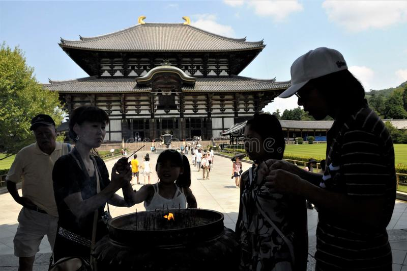 Le Japon, temple de Nara Todaiji image libre de droits