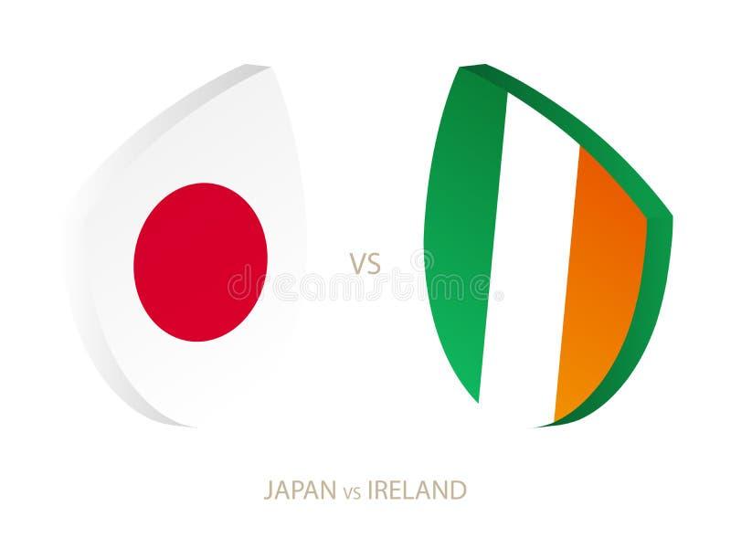 Le Japon v Irlande, icône pour le tournoi de rugby illustration libre de droits