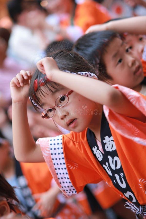 Le Japonais badine la danse traditionnelle photos libres de droits
