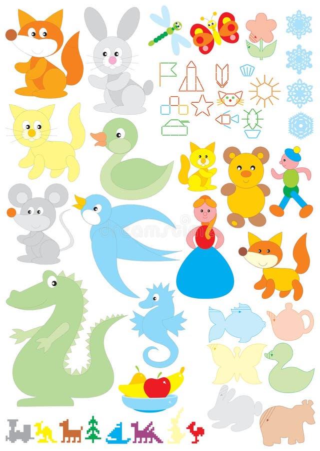 le jardin d'enfants objecte simple illustration stock