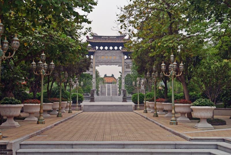 Le jardin de Baomo est situé dans le village de Zini, Chine photos stock