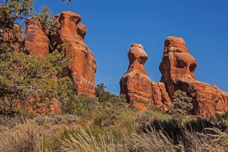 Le jardin de diables arque le parc national photographie stock