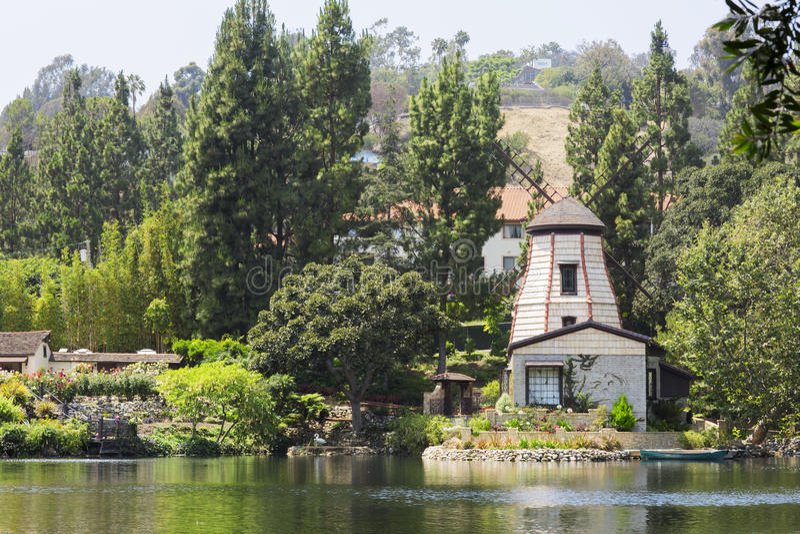 Le jardin de la méditation en Santa Monica, Etats-Unis photo libre de droits