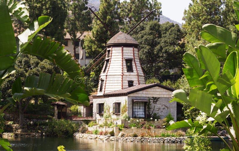 Le jardin de la méditation en Santa Monica, Etats-Unis image libre de droits