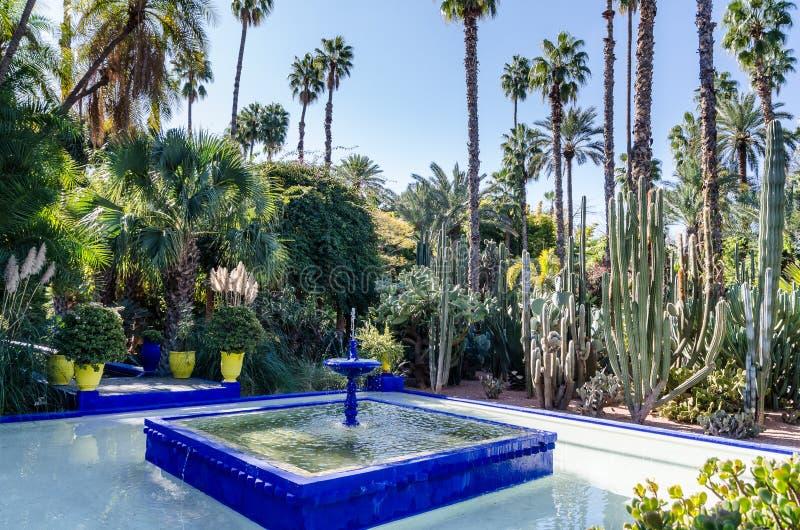 Le Jardin De Marjorelle fontanna fotografia stock