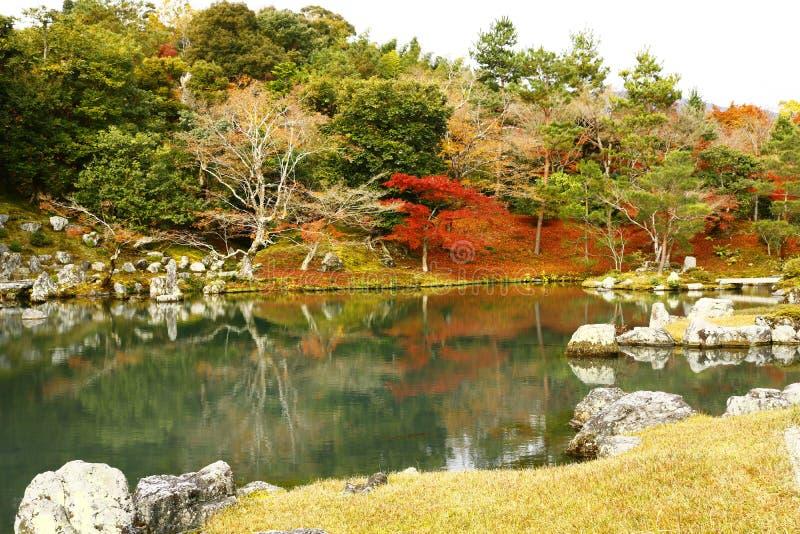 Le jardin de paysage de Tenryu-JI photographie stock libre de droits