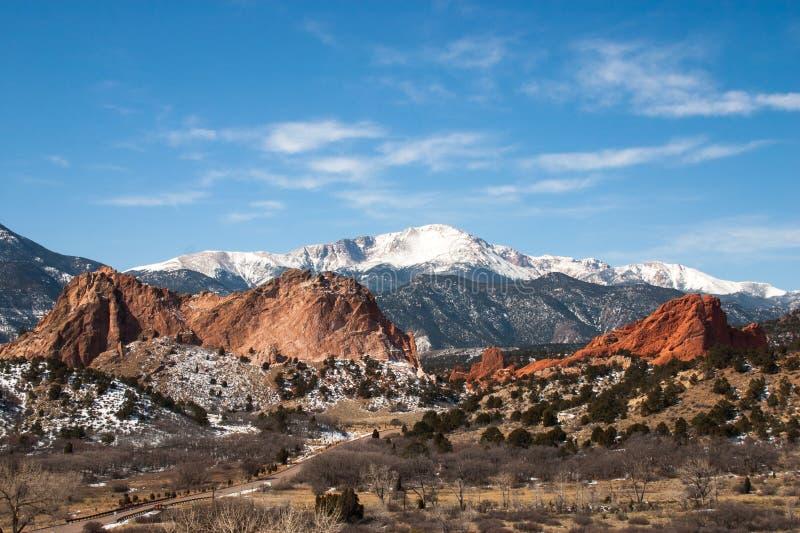 Le jardin des dieux parc, le Colorado images stock