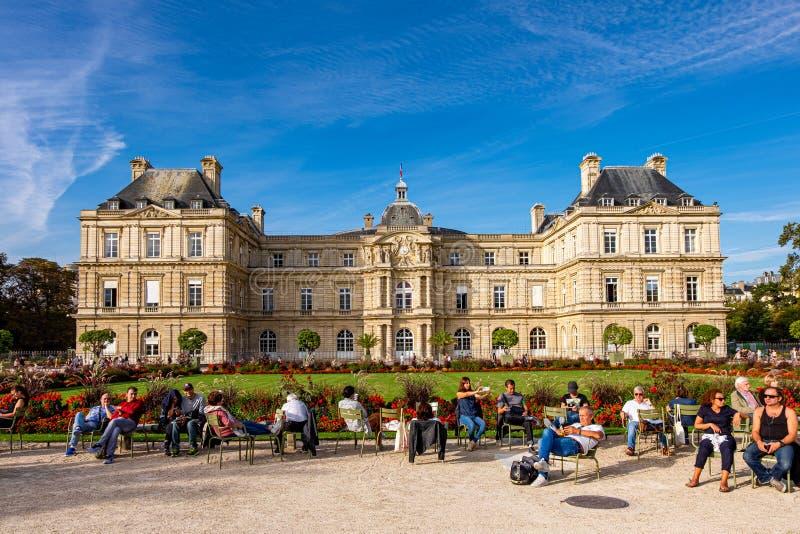 Le Jardin du Luxembourg w Paryżu, Francja obraz royalty free