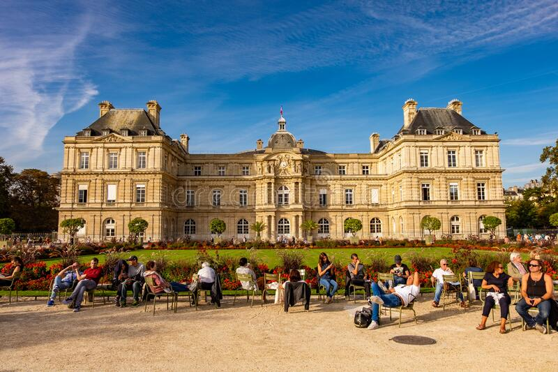 Le Jardin du Luxembourg w Paryżu, Francja fotografia stock