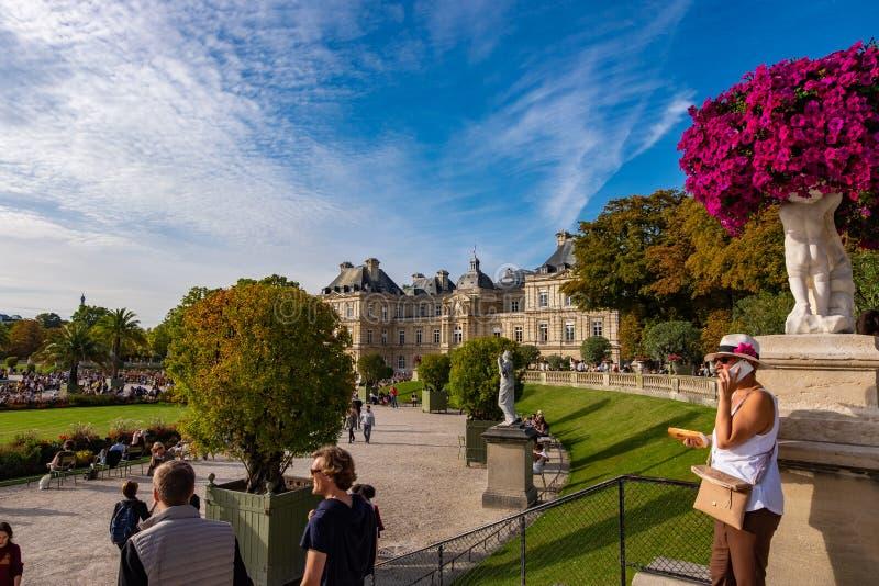Le Jardin du Luxembourg w Paryżu, Francja fotografia royalty free