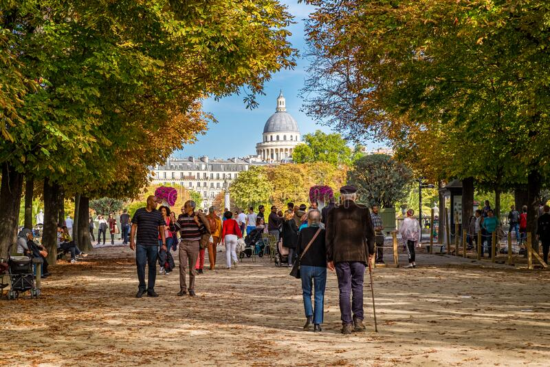 Le Jardin du Luxembourg w Paryżu, Francja zdjęcia royalty free