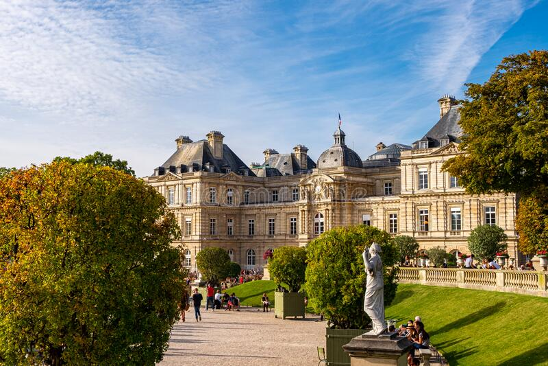 Le Jardin du Luxembourg w Paryżu, Francja obraz stock