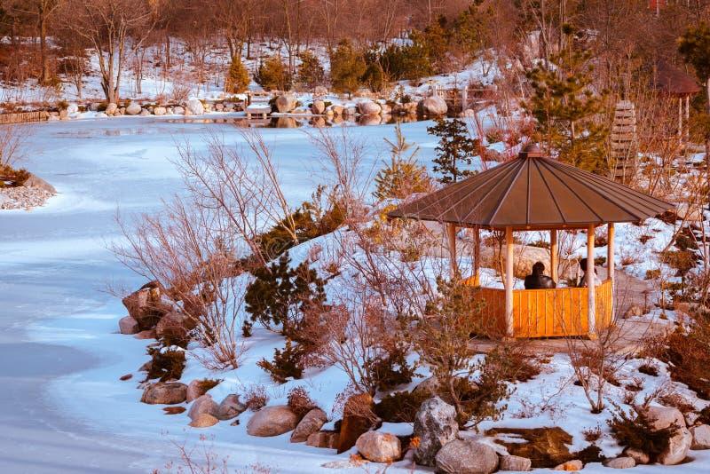 Le jardin japonais dans Frederik Meijer fait du jardinage fini congelé images stock