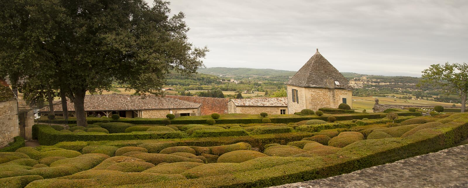 Le Jardin Marqueyssac France royalty free stock photography