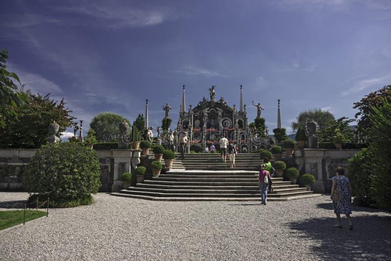 Le jardin merveilleux d'Isola Bella, sur le lac Maggioren en Italie photos libres de droits
