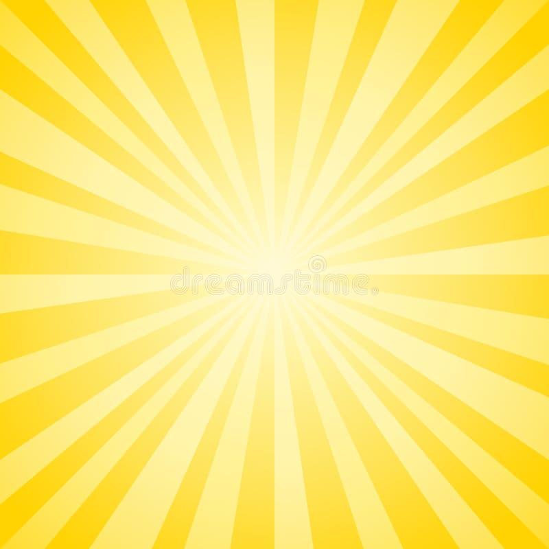 Le jaune doux abstrait rayonne le fond Vecteur ENV 10, cmyk illustration libre de droits