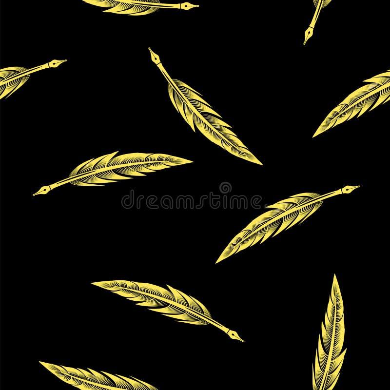 Le jaune fait varier le pas du modèle sans couture illustration de vecteur