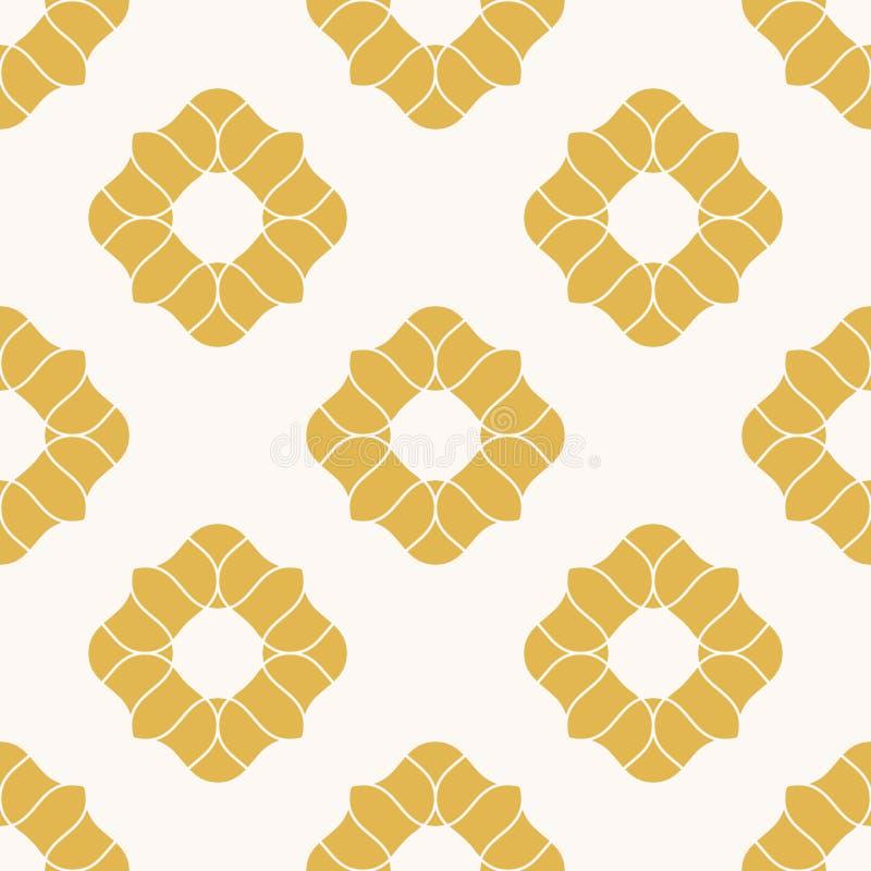 Le jaune fleurit la configuration sans joint E illustration de vecteur