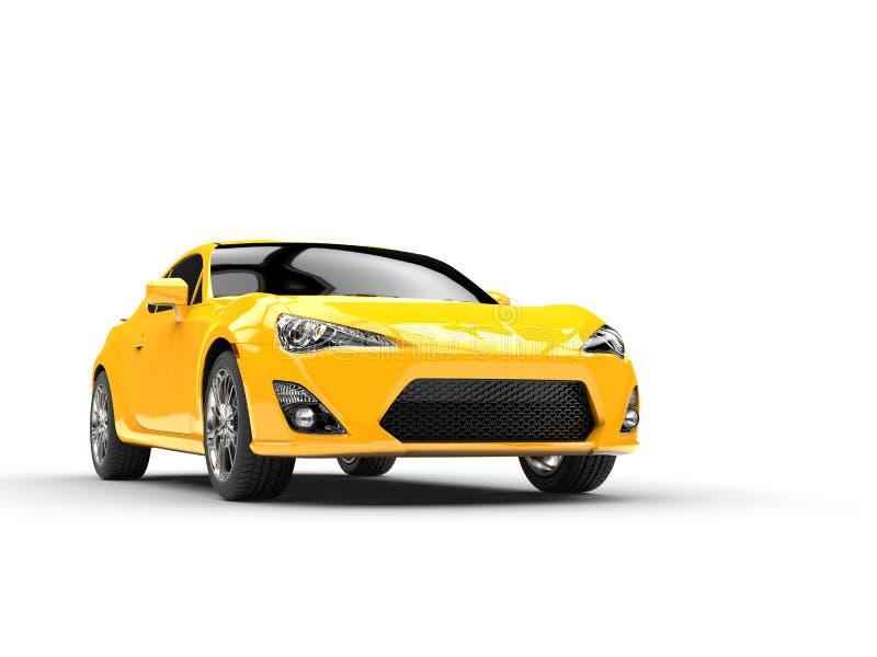 Le jaune générique folâtre le tir automobile de studio illustration libre de droits