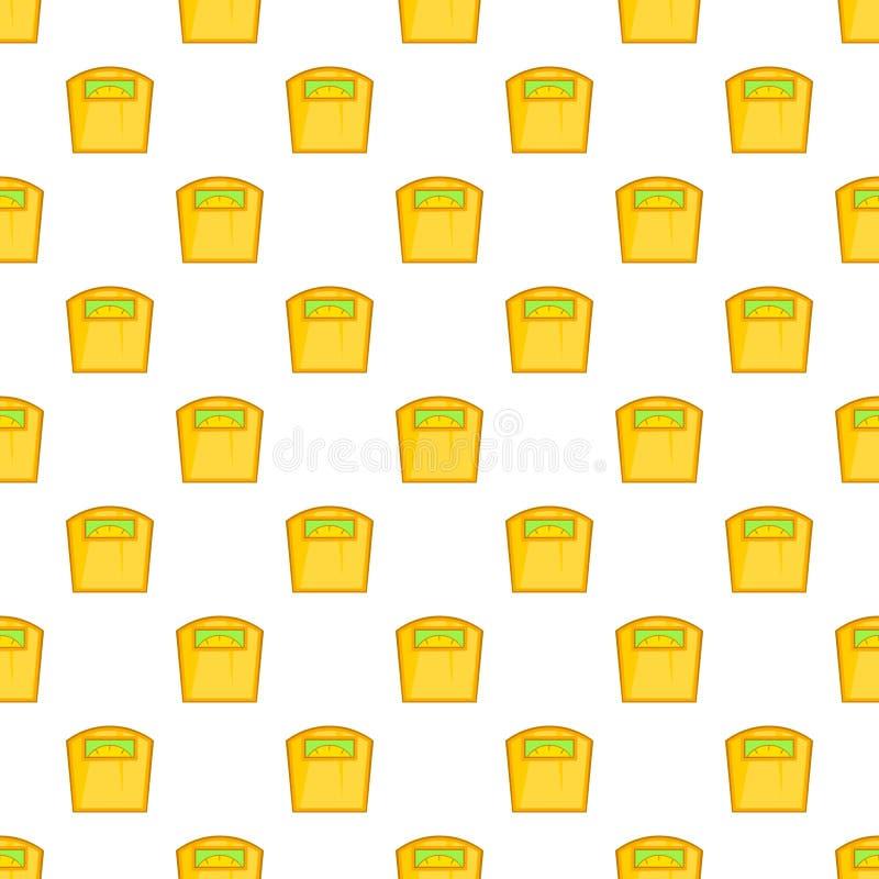 Le jaune mesure le modèle, style de bande dessinée illustration de vecteur