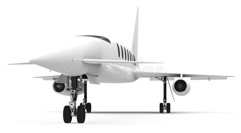 Le jet privé illustration de vecteur
