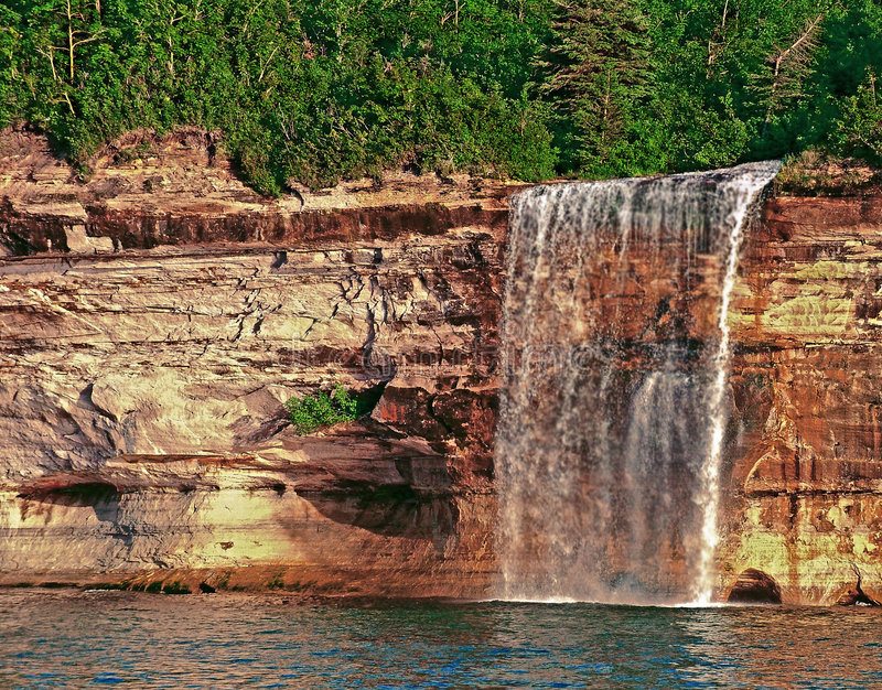 Le jet tombe Munising Michigan photographie stock libre de droits