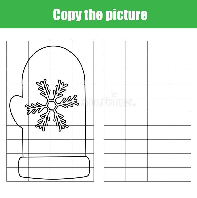Le jeu éducatif d'enfants de copie de grille, dessin imprimable badine l'activité illustration libre de droits