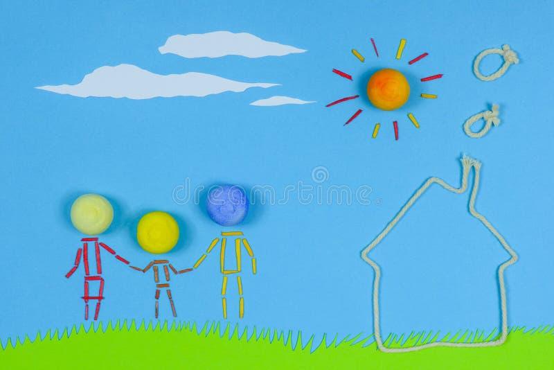 Le jeu d'enfants : Maison douce à la maison illustration de vecteur