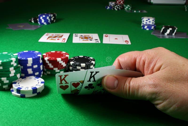 Le jeu - rois DOF profond de poche image libre de droits