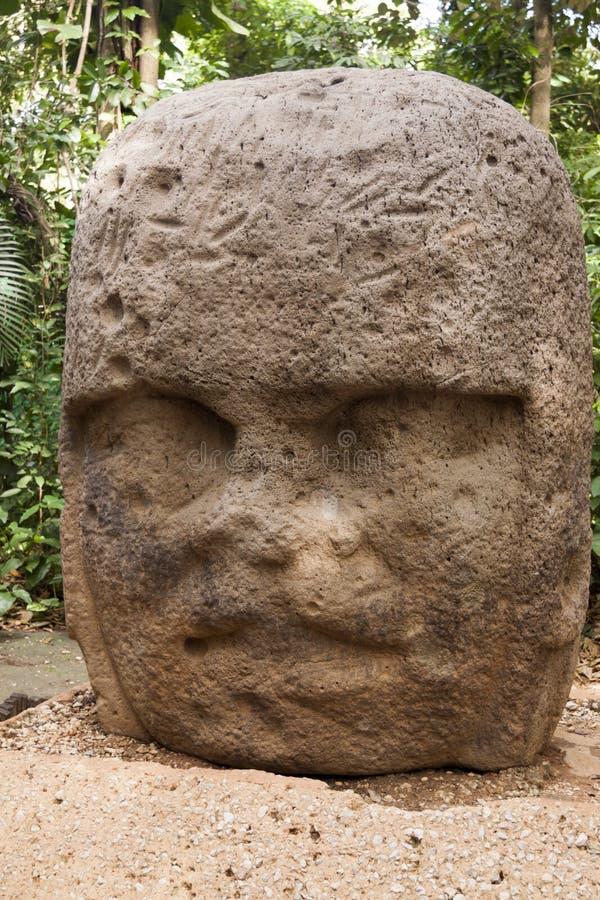 Le jeune guerrier, musée archéologique d'Olmec, La Venta, état de Villahermosa, Tabasco, Mexique de Parque image libre de droits
