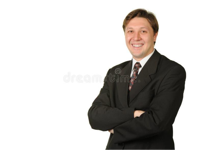 Le jeune homme d'affaires d'isolement sur un blanc images libres de droits