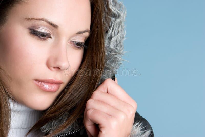 le joli hiver de fille photos stock