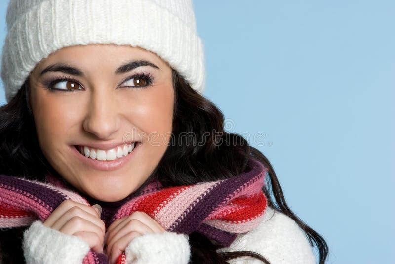 le joli hiver de personne photo libre de droits