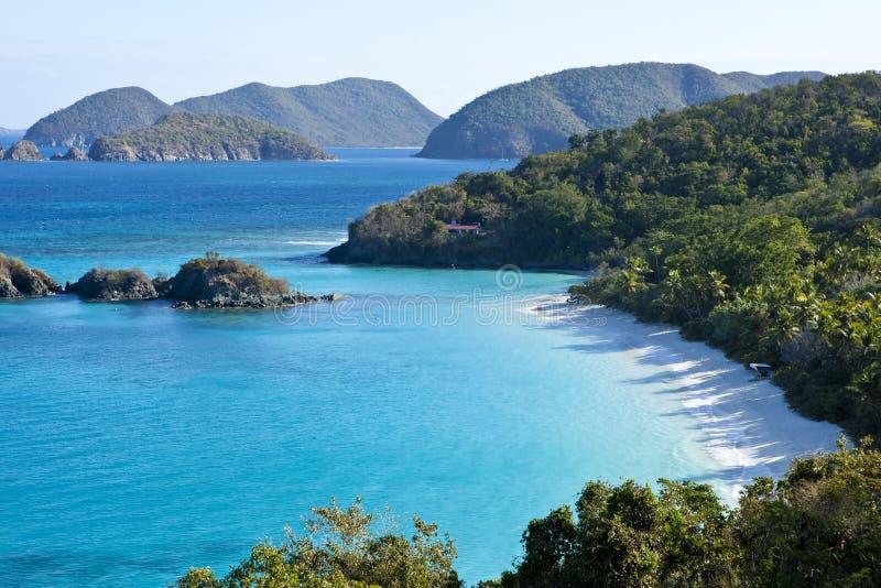 Le joncteur réseau aboient nous les Îles Vierges photos stock