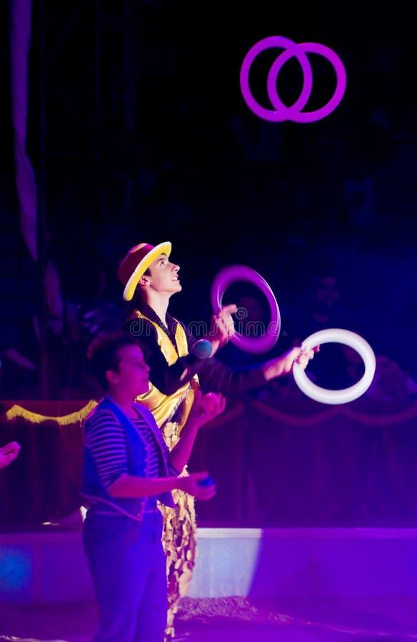 Le jongleur exécutent photographie stock libre de droits