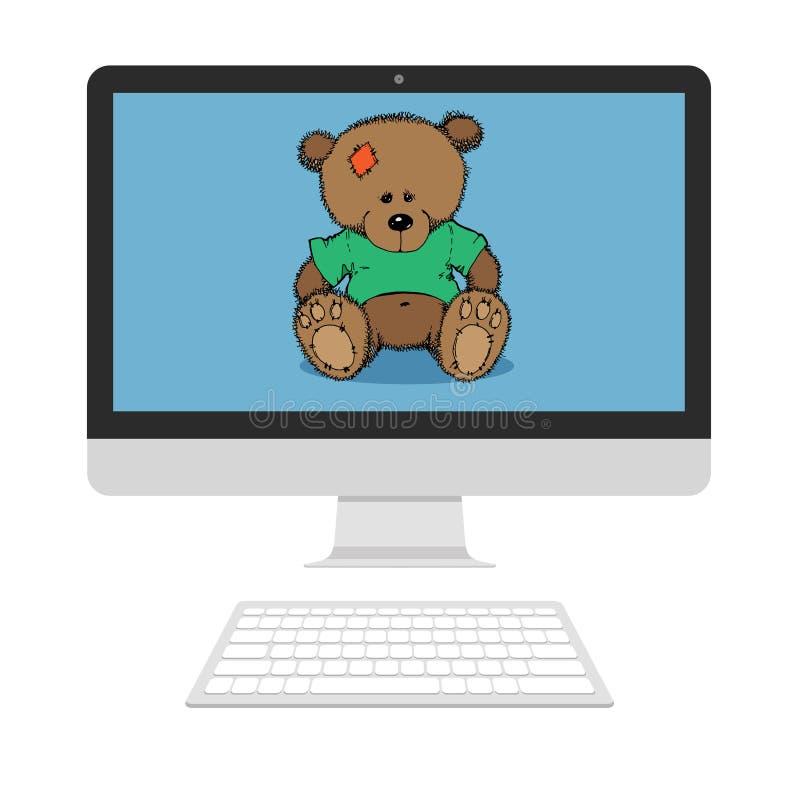 Le jouet concernent l'écran illustration libre de droits