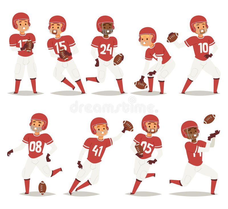 Le joueur d'équipe de baseball dans le jeu uniforme pose l'illustration professionnelle de vecteur de gagnant de caractères de sp illustration stock