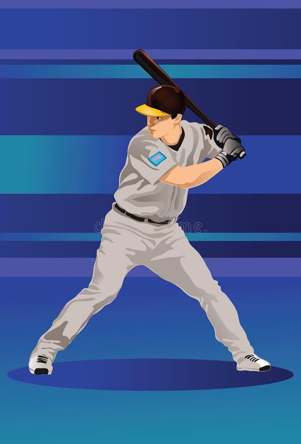 Le joueur de baseball illustration de vecteur