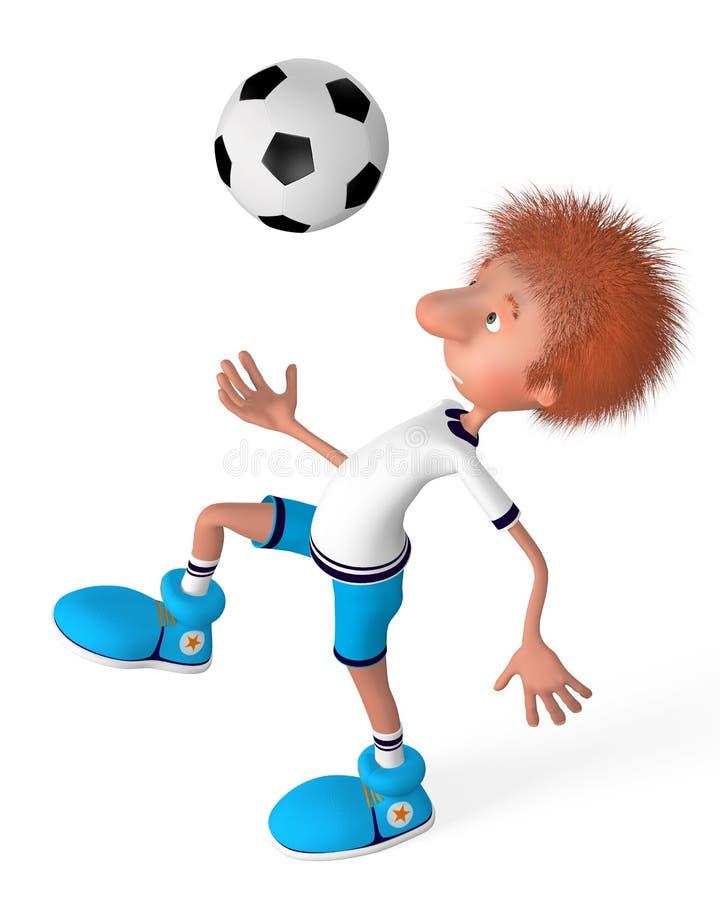 Le joueur de football sur la formation illustration stock