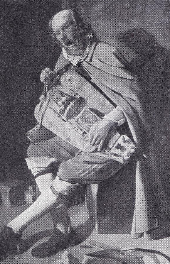 `Le joueur Vielle` ζωγραφιά του Georges de La Tour στοκ εικόνες με δικαίωμα ελεύθερης χρήσης