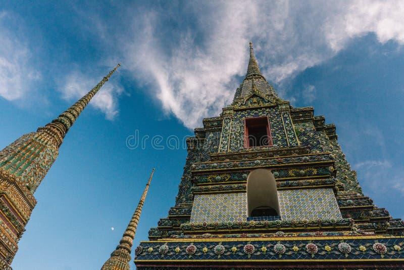 Le jour à Bangkok, la Thaïlande, Wat Po Temple image stock