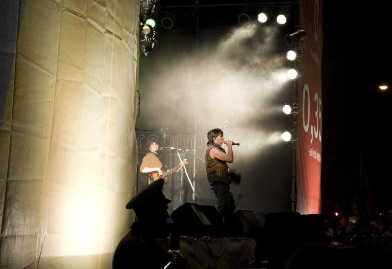 Le jour d'imbécile d'avril : humeur et musique fest à Odessa photos libres de droits