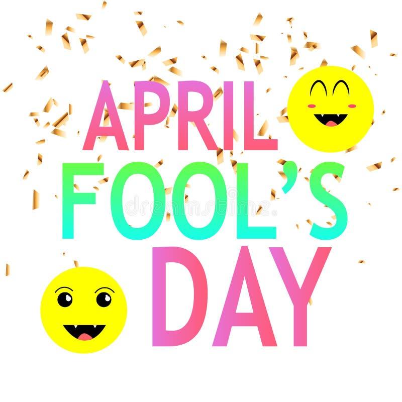 Le jour d'imbéciles d'avril illustration de vecteur