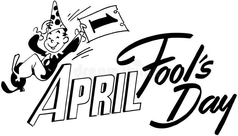 Le jour d'imbéciles d'avril illustration libre de droits