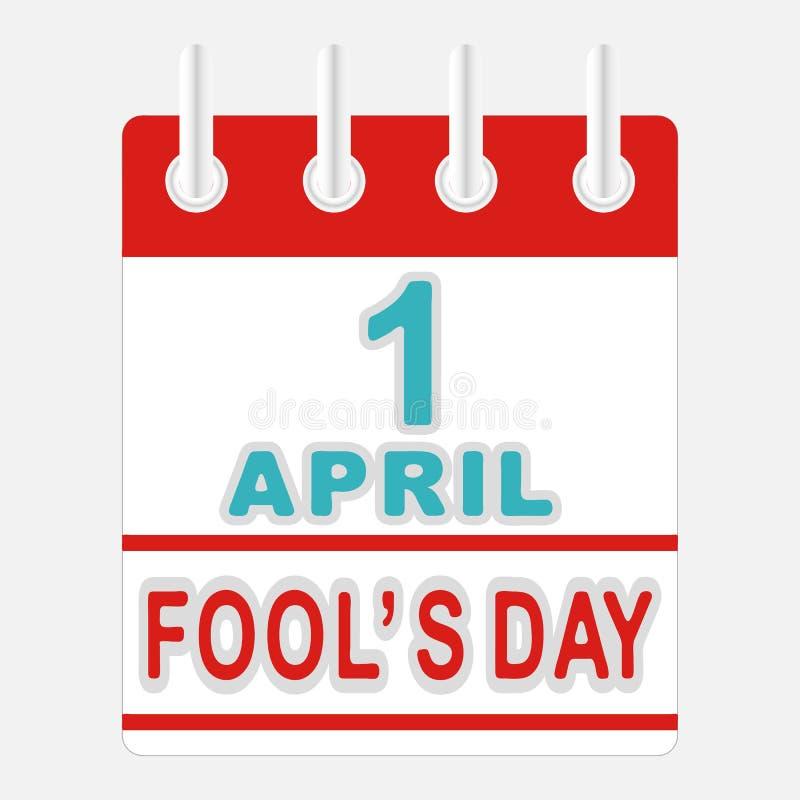 Le jour d'imbéciles d'avril illustration stock