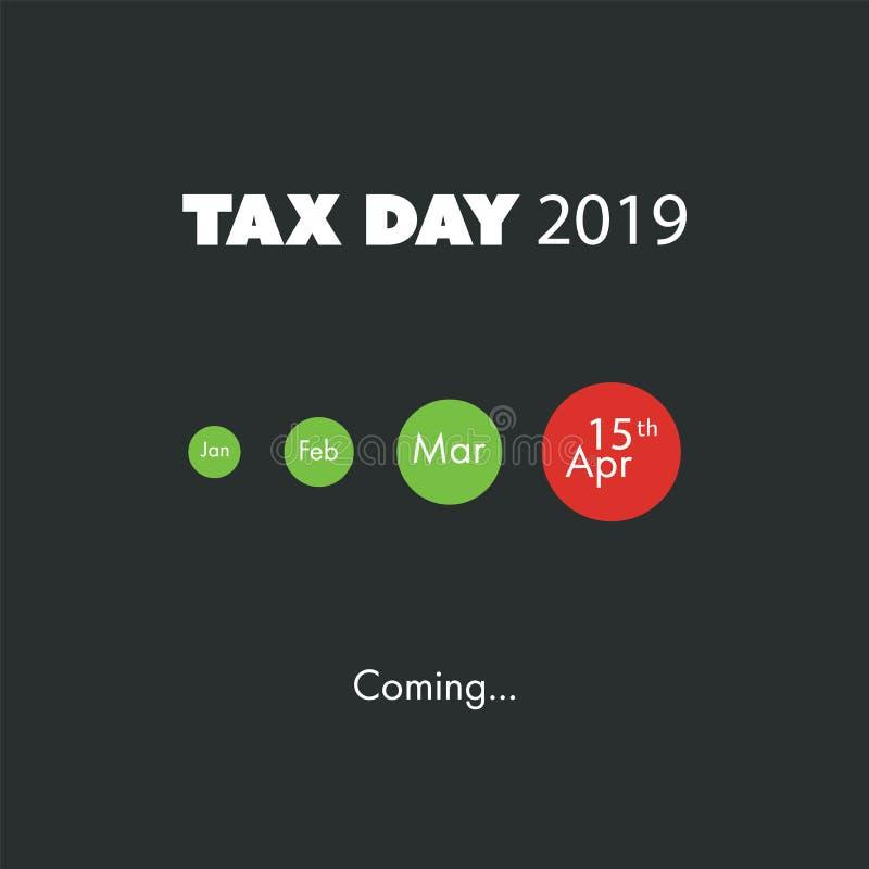 Le jour d'impôts vient, calibre de conception - la date-butoir d'impôts des Etats-Unis, échéance pour des retours d'impôt : Le 15 illustration libre de droits