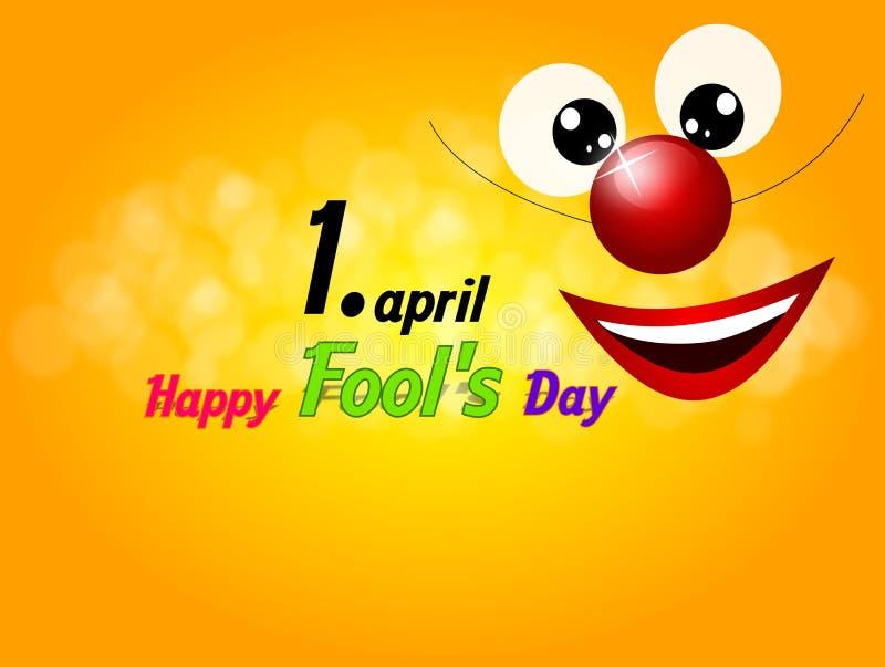 Le jour de l'imbécile heureux illustration stock
