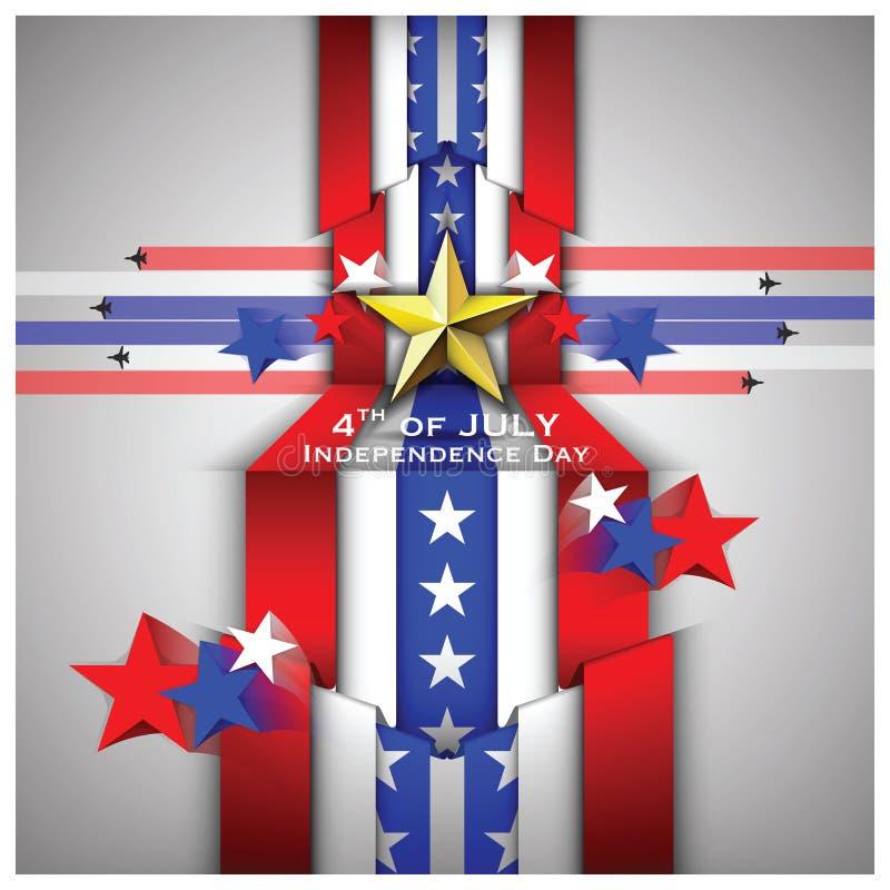 Le Jour de la Déclaration d'Indépendance célèbrent le fond illustration libre de droits