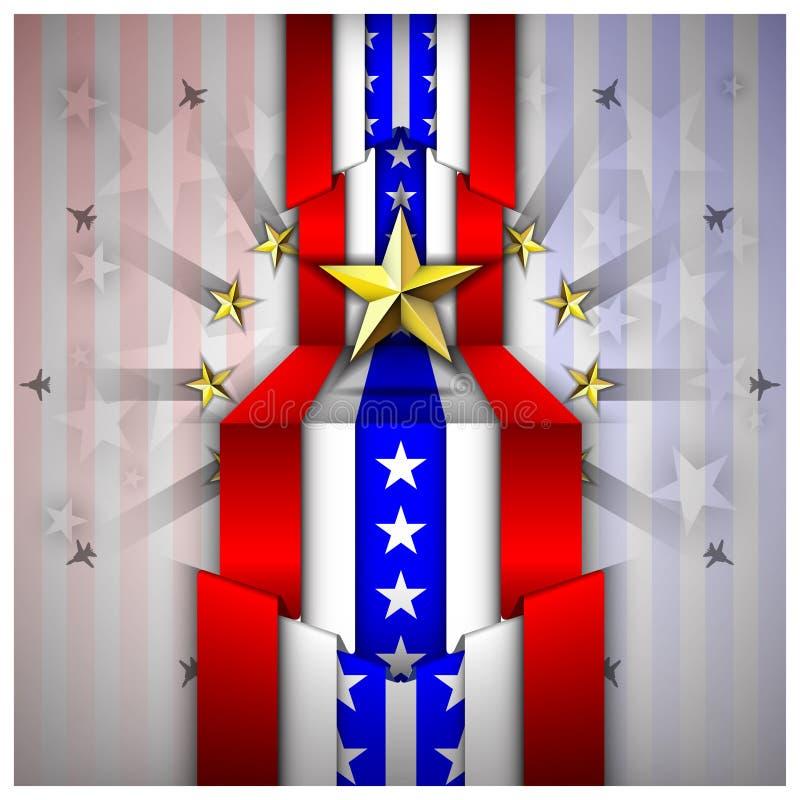 Le Jour de la Déclaration d'Indépendance célèbrent le fond illustration de vecteur
