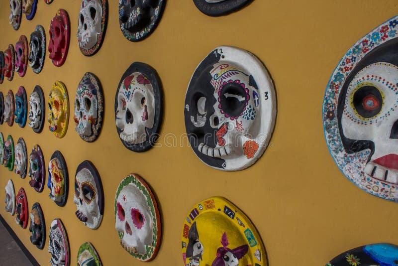 Le jour de la mort a décoré le crâne photos stock